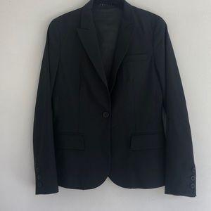 Theory black lined blazer size 6